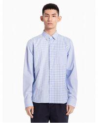 Calvin Klein - Mixed Check Woven Cotton Shirt - Lyst