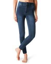 Calzedonia - High-waisted Push-up Jeans - Lyst