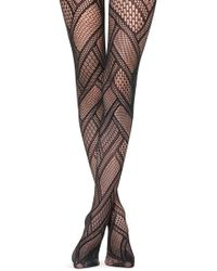 Calzedonia - Patchwork Fishnet Tights - Lyst