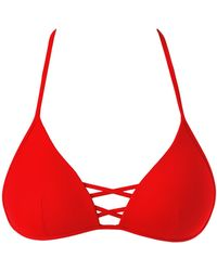 a46d648faa044 Calzedonia - Indonesia Triangle-top Padded Bikini With Ties - Lyst