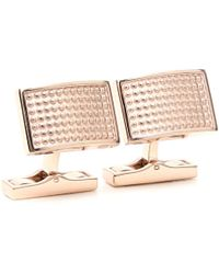 Canali - Gold-colored Cufflinks With Raised Motif - Lyst