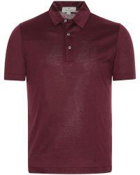 Canali - Bordeaux Mercerized Cotton Jersey Polo Shirt - Lyst