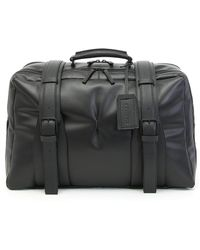 Canali - Black Textured Calfskin Leather Carryall - Lyst