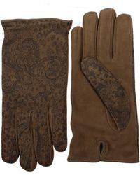 Etro - Gloves Men Black - Lyst