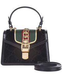 982e714a6 Gucci Women's Sylvie GG Velvet Mini Bag - Burgundy in Brown - Lyst