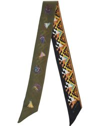 Etro - Reversible Silk Bandeau With Geometric Print On One Side And Symbols On The Other - Lyst