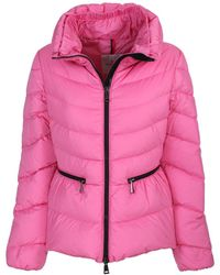 Moncler - Shaped Miriel Jacket In Laqué Nylon With Feather Padding - Lyst