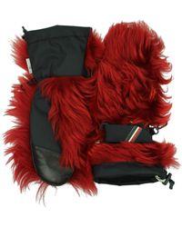 Moncler - Gloves Women Red - Lyst
