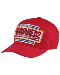dd01651a2 Lyst - DSquared² Canadian Brothers Cap in Red for Men