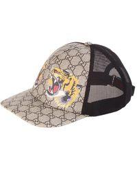 Gucci Tigers Print GG Supreme Baseball Hat - Natural