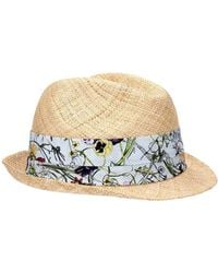 00488322f61e5 Gucci Gg Fedora in Natural for Men - Lyst
