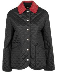 Burberry - Dranefeld Black diamond Quilted Barn Jacket - Lyst