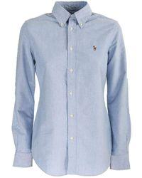 Ralph Lauren - Light Blue Cotton Oxford Shirt - Lyst