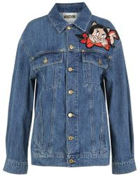 406bb49be8 Moschino - Porky Pig Looney Tunes Jacket In Blue Denim - Lyst