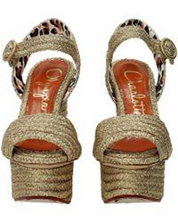 Charlotte Olympia - Sandals Karen Women Gold - Lyst