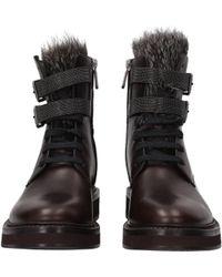 Brunello Cucinelli - Ankle Boots Women Brown - Lyst