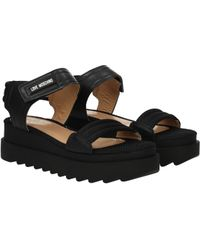 Love Moschino - Sandals Women Black - Lyst