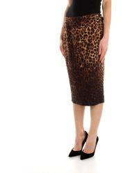Tom Ford - Knee Length Skirts Women Beige - Lyst
