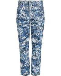 Off-White c/o Virgil Abloh - Tapestry Cropped Jeans - Lyst