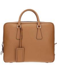 Prada Work Bags Men Brown