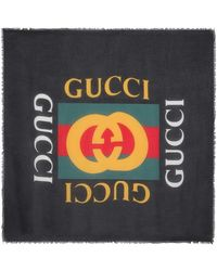 Gucci - Logo Modal And Silk Scarf - Lyst