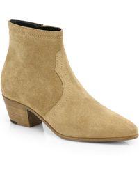 Saint Laurent Rock Suede Ankle Boots - Lyst