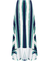 Chloé Printed Silk Skirt - Lyst