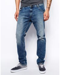 Diesel Jeans Krayver 830x Tapered Fit Mid Wash - Lyst