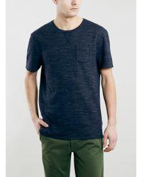 Topman Ltd Core Blue Tri-Marl T-Shirt - Lyst