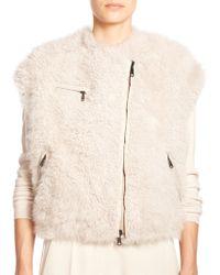 Brunello Cucinelli Furry Cashmere Vest - Lyst