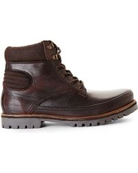Ben Sherman Dark Brown Kinsley Boots brown - Lyst