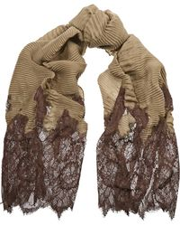 Valentino Crinkled Cashmere-Blend And Lace Scarf - Lyst