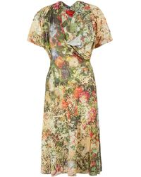 Vivienne Westwood Red Label Multicolour Floral Print Kickout Jersey Dress - Lyst