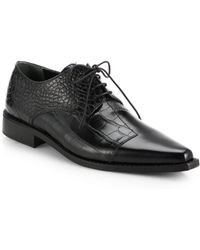 Junya Watanabe Patchwork Leather Laceup Oxfords - Lyst