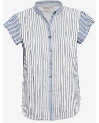 Sea Frayed Edge Striped Shirt - Lyst
