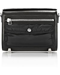 Alexander Wang Mini Chastity Bomber Sling In Smooth Black - Lyst