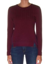O'2nd - Almond Dark Purple Sweater - Lyst