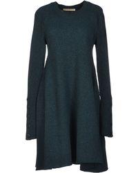 Balenciaga Green Short Dress - Lyst