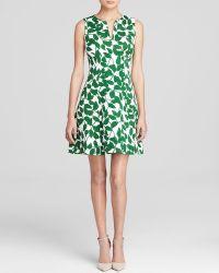 Kate Spade Garden Leaves Cotton Pique Dress - Lyst