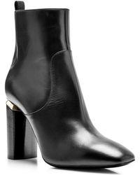 Nicholas Kirkwood Carved Heel Leather Ankle Boots - Lyst