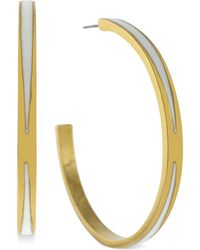 Vince Camuto - Goldtone Triangle Hoop Earrings - Lyst