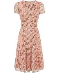 Carolina Herrera Dot Print Chiffon Dress - Lyst