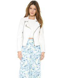 Lovers + Friends - Lovers Friends Babe Moto Jacket Vest White - Lyst