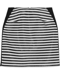Richard Nicoll - Striped Stretch-crepe Mini Skirt - Lyst