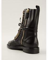 Casadei Rock Laceup Boots - Lyst