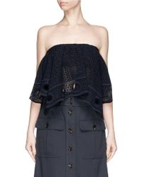 Chloé Strapless Lace Cropped Top - Lyst