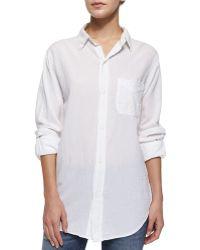 Current/Elliott The Prep School Cotton-Blend Shirt - Lyst