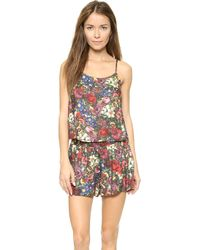 Alice + Olivia - Floral Camisole - English Floral All Over - Lyst