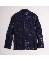 Paul Smith Blue Floral Blazer - Lyst