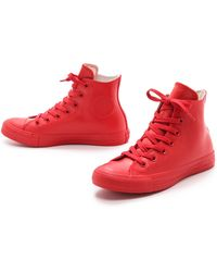 Converse Rubber Coated Chuck Taylor All Star Sneakers - Red - Lyst